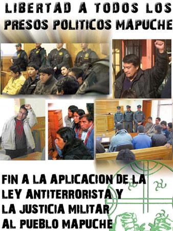 Mapuche Gefangenen in Chile
