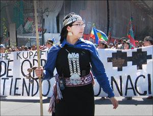 Mapuche frau