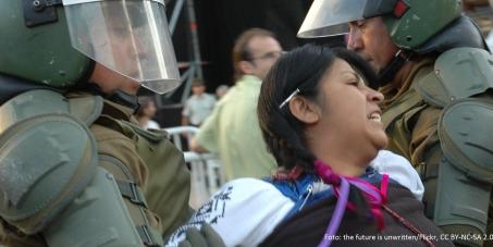 Polizeigewalt gegen die Mapuches in Chile