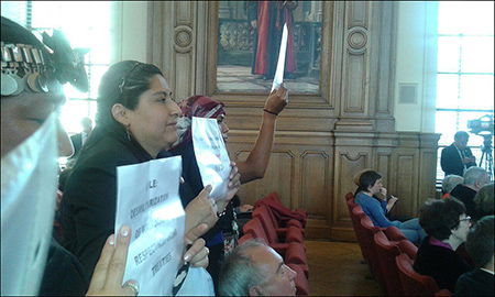 Louvain: protestation silencieuse Mapuche